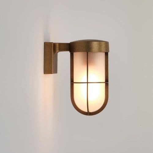 Astro 1368008 Cabin Outdoor Wall Light Frosted Glass Antique Brass